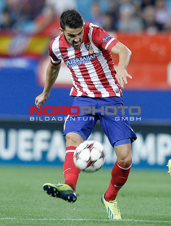 Atletico de Madrid's David Villa during Champions League 2013/2014 match.September 18,2013. Foto © nph / Acero)