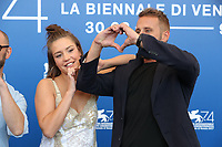 Adele Exarchopoulos and Matthias Schoenaerts attend the 'Racer And The Jailbird (Le Fidele)' photocall during the 74th Venice Film Festival at Sala Casino on September 8, 2017 in Venice, Italy.  <br /> CAP/GOL<br /> &copy;GOL/Capital Pictures