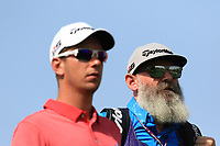 Lucas Herbert (AUS) with Nick Pugh (caddy) on the 4th tee during Round 3 of the Omega Dubai Desert Classic, Emirates Golf Club, Dubai,  United Arab Emirates. 26/01/2019<br /> Picture: Golffile | Thos Caffrey<br /> <br /> <br /> All photo usage must carry mandatory copyright credit (© Golffile | Thos Caffrey)