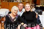 Helen Keating (Tralee), Denise Burns (Abbeydorney) and Theo Dolka (Ardfert) enjoying the Tea Party sponsored by the Killarney Royal Hotel at the Palliative Care Unit in Kerry University Hospital on Monday
