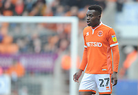 Blackpool's Marc Bola<br /> <br /> Photographer Kevin Barnes/CameraSport<br /> <br /> The EFL Sky Bet League One - Blackpool v Plymouth Argyle - Saturday 30th March 2019 - Bloomfield Road - Blackpool<br /> <br /> World Copyright © 2019 CameraSport. All rights reserved. 43 Linden Ave. Countesthorpe. Leicester. England. LE8 5PG - Tel: +44 (0) 116 277 4147 - admin@camerasport.com - www.camerasport.com