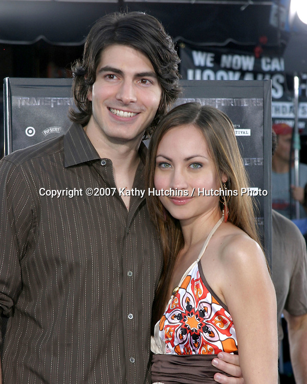 "Brandon Routh & fiance.""Transformers"" Premiere.Mann's Village Theater.Los Angeles, CA.June 27, 2007.©2007 Kathy Hutchins / Hutchins Photo...."