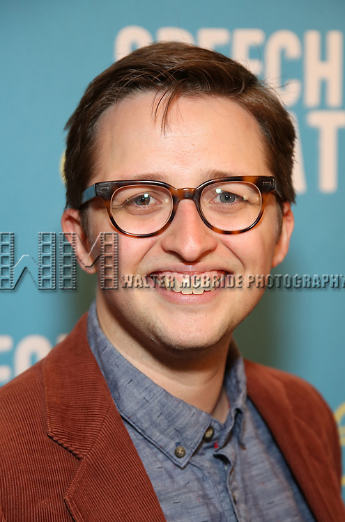 Will Roland attends Broadway Red Carpet Premiere of 'Speech & Debate'  at the American Airlines Theatre on April 2, 2017 in New York City.