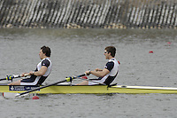 Seville. SPAIN; 17.02.2007; GBR M2- bow Matt LANDGRIDGE and Steve WILLIAMS, winning Saturdays finals of the FISA Team Cup; held on the River Guadalquiver course. [Photo Peter Spurrier/Intersport Images]   [Mandatory Credit, Peter Spurier/ Intersport Images]. , Rowing Course: Rio Guadalquiver Rowing Course, Seville, SPAIN,