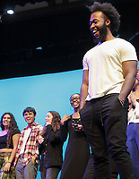 Alexander Levers '19<br /> Occidental College students perform and compete during Apollo Night, one of Oxy's biggest talent showcases, on Feb. 22, 2019 in Thorne Hall. Sponsored by ASOC and hosted by the Black Student Alliance as part of Black History Month.<br /> <br /> Photo by Emy Deeter '22, La Encina