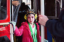 Chinese new year 2014<br /> Year of the Horse<br /> Crowds gathered to watch chinese children and people dressed up in traditional dress.<br /> <br /> pic shows: chinese children on London bus<br /> <br /> <br /> <br /> <br /> Pic by Gavin Rodgers/Pixel 8000 Ltd