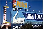 Swan Poolos sign on Ventura Blvd. in Studio City, CA