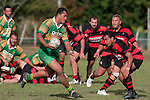 Kolo Vea makes one of his many telling runs upfield.  Counties Manukau Premier Club Rugby Game of the Week between Drury & Papakura, played at Drury Domain on Saturday Aprill 11th, 2009..Drury won 35 - 3 after leading 15 - 5 at halftime.