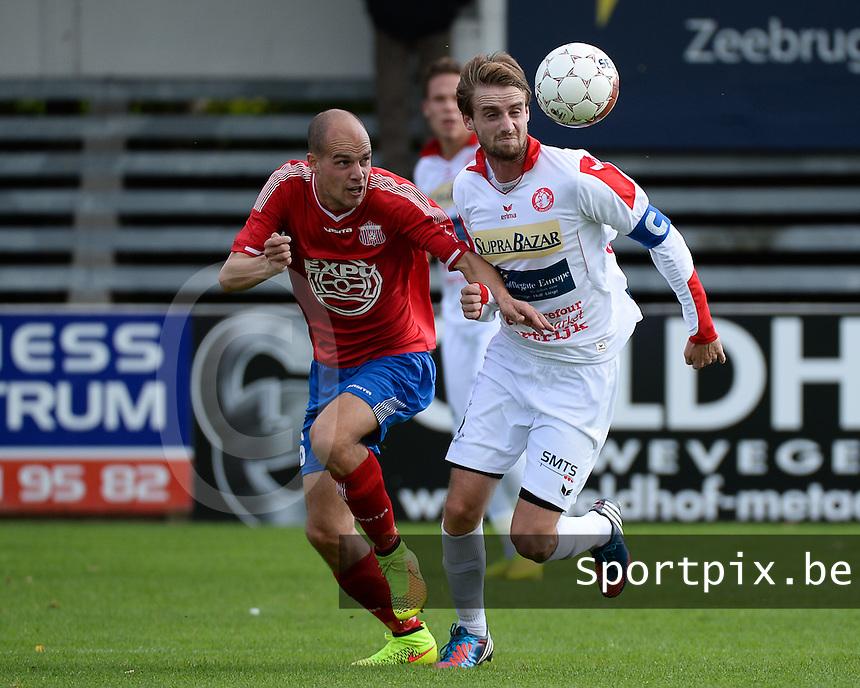 FC Gullegem - Londerzeel SK : duel tussen Yoeri Flederick (r) en Kenneth Stoclet (links) <br /> foto VDB / BART VANDENBROUCKE