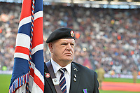 Army vet during West Ham United vs Burnley, Premier League Football at The London Stadium on 3rd November 2018