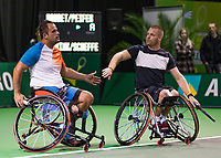 Rotterdam, The Netherlands, 14 Februari 2019, ABNAMRO World Tennis Tournament, Ahoy, Wheelchair, doubles,  Tom Egberdink (NED) Maikel Scheffers (NED),<br /> Photo: www.tennisimages.com/Henk Koster