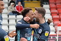 Nicky Maynard of Bury scores the first Goal and celebrates during Stevenage vs Bury, Sky Bet EFL League 2 Football at the Lamex Stadium on 9th March 2019