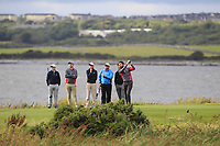 Mark Morrissey (Co. Sligo) on the 14th tee during the Connacht Final of the AIG Barton Shield at Galway Bay Golf Club, Galway, Co Galway. 11/08/2017<br /> <br /> Picture: Golffile | Thos Caffrey<br /> <br /> <br /> All photo usage must carry mandatory copyright credit     (&copy; Golffile | Thos Caffrey)