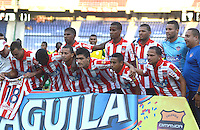 BARRANQUILLA  -COLOMBIA, 18-FEBRERO-2015. Formacion  del Atletico Junior    contra el Real Cartagena  durante partido por la fecha 1 de la Copa  çguila I 2015 jugado en el estadio Metropolitano  de la ciudad de Barranquilla./ Team  of  Atletico Junior  against Real Cartagena during the match for the first date of the Aguila Cup I 2015 played at Metropolitano  stadium in Barranquilla city<br />  . Photo / VizzorImage / Alfonso Cervantes / Stringer
