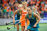 The Hague, Netherlands, June 14: Carlien Dirkse van den Heuvel #9 of The Netherlands looks on during the field hockey gold medal match (Women) between Australia and The Netherlands on June 14, 2014 during the World Cup 2014 at Kyocera Stadium in The Hague, Netherlands. Final score 2-0 (2-0)  (Photo by Dirk Markgraf / www.265-images.com) *** Local caption ***