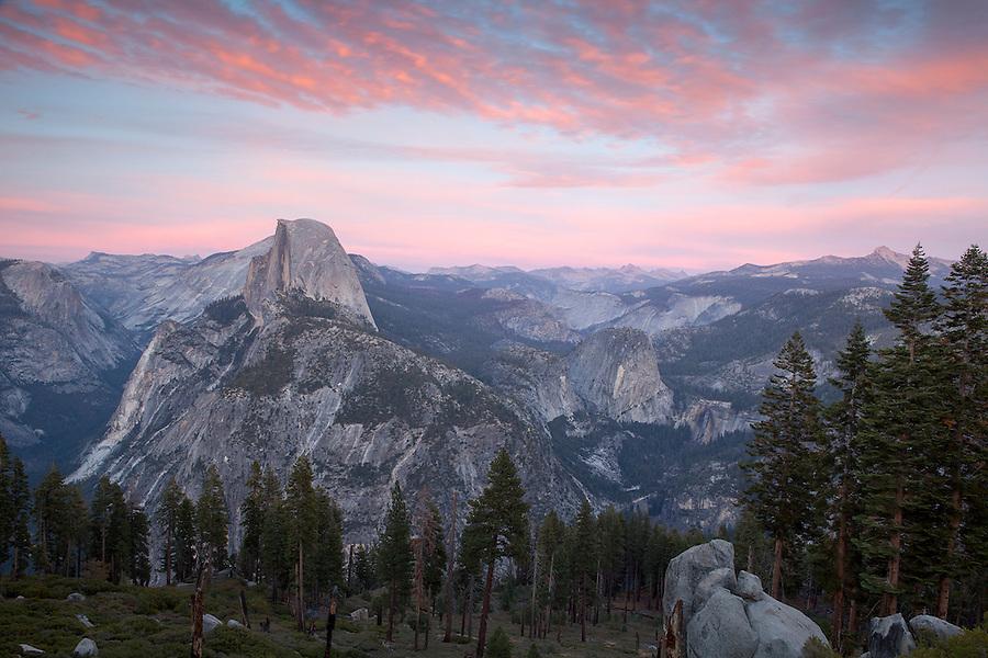 Half Dome at sunset, Yosemite National Park, California, USA
