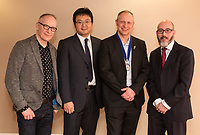 Keynote speaker and Radio Consultant David Lloyd with Lei Jiang of sponsors Buckles Solicitors, NCBC President Mark Deakin and Luke Appleby, also from Buckles