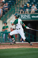 Fort Wayne TinCaps Agustin Ruiz (20) at bat during a Midwest League game against the Peoria Chiefs on July 17, 2019 at Parkview Field in Fort Wayne, Indiana.  Fort Wayne defeated Peoria 6-2.  (Mike Janes/Four Seam Images)