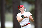 CHAPEL HILL, NC - OCTOBER 15: NC State's Cecily Overbey on the 10th tee. The third and final round of the Ruth's Chris Tar Heel Invitational Women's Golf Tournament was held on October 15, 2017, at the UNC Finley Golf Course in Chapel Hill, NC.