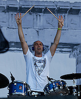 Nathan Curran the Drummer with Gorgon City performs on the Main Stage during The New Look Wireless Music Festival at Finsbury Park, London, England on Saturday 04 July 2015. Photo by Andy Rowland.