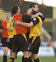 29/01/2005  Copyright Pic : James Stewart.File Name : jspa01_partick v raith.ANDY ROSS IS CONGRATULATED AFFTER HE SORES PARTICK'S FIRST GOAL.....Payments to :.James Stewart Photo Agency 19 Carronlea Drive, Falkirk. FK2 8DN      Vat Reg No. 607 6932 25.Office     : +44 (0)1324 570906     .Mobile   : +44 (0)7721 416997.Fax         : +44 (0)1324 570906.E-mail  :  jim@jspa.co.uk.If you require further information then contact Jim Stewart on any of the numbers above.........A