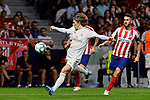 Luka Modric of Real Madrid during La Liga match between Atletico de Madrid and Real Madrid at Wanda Metropolitano Stadium in Madrid, Spain. September 28, 2019. (ALTERPHOTOS/A. Perez Meca)
