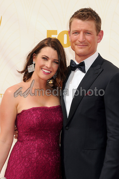 20 September 2015 - Los Angeles, California - Megan Marie Coughlin, Philip Winchester. 67th Annual Primetime Emmy Awards - Arrivals held at Microsoft Theater. Photo Credit: Byron Purvis/AdMedia