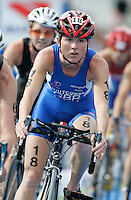 01 SEP 2007 - HAMBURG, GER - Andrea Whitcombe (GBR) - Elite Womens World Triathlon Championships. (PHOTO (C) NIGEL FARROW)