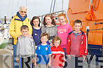 LIFEBOAT: On a tour of the Fenit Life Boat at the Fenit Regatta on Sunday, were, Fionán Diggin, Donnacha and Orla Buttimer and Conall Diggin. Back l-r: Ann Buttimer, Aideen Fox, Laura Harty and Emma Daly.