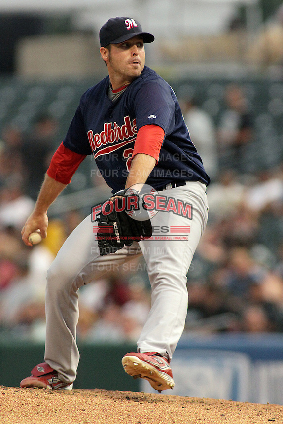 August 6, 2009:  Mitchell Boggs of the Memphis Redbirds, Pacific Cost League Triple A affiliate of the St. Louis Cardinals, during a game at the Spring Mobile Ballpark in Salt Lake City, UT.  Photo by:  Matthew Sauk/Four Seam Images