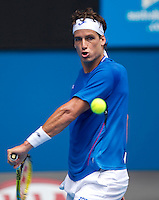 Feliciano Lopez (ESP) against Andy Roddick (USA) (7) in the Third Round of the Mens Singles. Roddick beat Lopez 6-7 6-4 6-4 7-6..International Tennis - Australian Open Tennis - Fri 22 Jan 2010 - Melbourne Park - Melbourne - Australia ..© Frey - AMN Images, 1st Floor, Barry House, 20-22 Worple Road, London, SW19 4DH.Tel - +44 20 8947 0100.mfrey@advantagemedianet.com