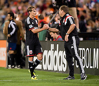 Washington, DC - April 12, 2014: D.C. United defeated the New York Red Bulls 1-0 at RFK Stadium.