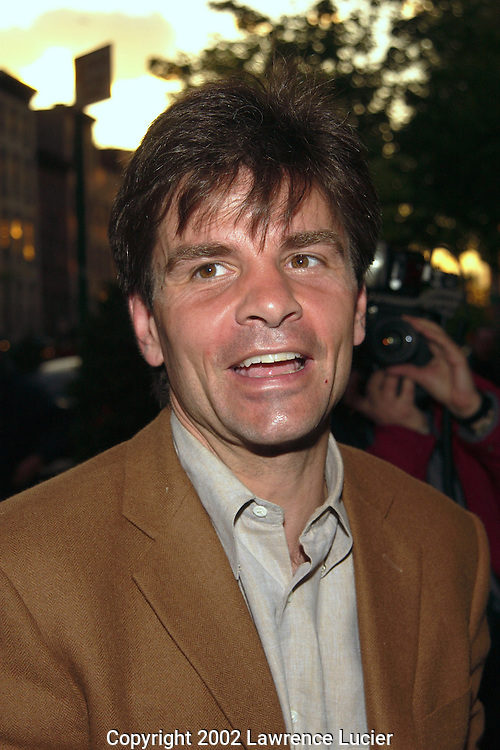 Political strategist Nick Stephanopolous arrive for the premier of  Hollywood Ending April 23, 2002 in New York City.   .