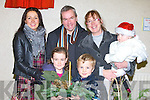 SUPPORTING: Supporting the Gaelscoil Mhic Easmainn,Tralee Christmas  Fair Day at the school on Sunday Front l-r: Aoife and Cian Dillane. Back l-r: Eimear,Maurice Sinead Dillane and Deirdre Murphy.. . ............................... ..........