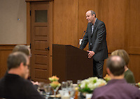 Occidental College President Jonathan Veitch. The Occidental College History Department hosts a dinner for the Ray Allen Billington Visiting Professorship in United States History, which Oxy co-founded with the Huntington Library, November 17, 2014 in Dumke Commons, Swan Hall. (Photo by Marc Campos, Occidental College Photographer)