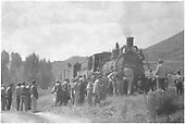 Rocky Mountain Railroad Club Excursion - Breakdown outside of Cimarron, CO.<br /> D&amp;RGW  Cimarron, CO  1940-1949