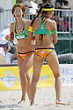 (L to R) Satoko Urata, Takemi Nishibori, MAY 6, 2012 - Beach Volleyball : JBV Tour 2012 Sports Club NAS Open  Women's final at Odaiba Beach, Tokyo, Japan. (Photo by Yusuke Nakanishi/AFLO SPORT) [1090]