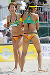 (L to R) Satoko Urata, Takemi Nishibori, MAY 6, 2012 - Beach Volleyball : JBV Tour 2012 Sports Club NAS Open  Women's final at Odaiba Beach, Tokyo, Japan. (Photo by Yusuke Nakanishi/AFLO SPORT) [1090]