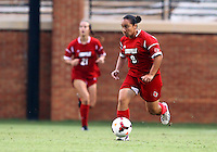 WINSTON-SALEM, NORTH CAROLINA - September 01, 2013:<br /> Charlyn Corral (9) of Louisville University moves up field against Wake Forest University during a match at the Wake Forest Invitational tournament at Wake Forest University on September 01. The match was abandoned early in the second half due to severe weather with Wake leading 1-0.