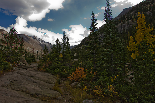 Longs Peak, Keyboard of the Winds, Glacier Gorge, fall, color, trees, forest, mountains, landscape, scenic, afternoon, Rocky Mountain National Park, Colorado, Rocky Mountains, USA