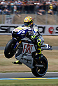 May 22, 2010 - Le Mans, France - Valentino Rossi powers his bike during practices prior the French Grand Prix at le Mans circuit, France, on May 22, 2010. (Photo Andrew Northcott/Nippon News).