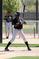 Kenny Gilbert of the Chicago White Sox plays in a minor league spring training game against the Cleveland Indians at the White Sox complex on March 24, 2011 in Glendale, Arizona. .Photo by:  Bill Mitchell/Four Seam Images.