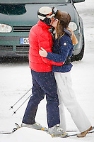 Lavinia Borroneo & John Elkann very much in love St. Moritz - Switzerland