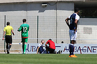 Alex Iacovitti of Scotland receives treatment again after receiving a second injury during Czech Republic Under-20 vs Scotland Under-20, Toulon Tournament Football at Stade de Lattre-de-Tassigny on 10th June 2017