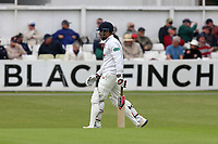 Ravi Bopara of Essex leaves the field having been dismissed for 7 during Worcestershire CCC vs Essex CCC, Specsavers County Championship Division 1 Cricket at Blackfinch New Road on 11th May 2018