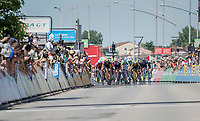 bunch sprint<br /> <br /> Stage 5: La Tour-de-Salvagny &rsaquo; M&acirc;con (175km)<br /> 69th Crit&eacute;rium du Dauphin&eacute; 2017