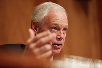 Chairman of the Senate Committee on Homeland Security and Government Affairs Ron Johnson (Republican of Wisconsin) questions witnesses during a hearing on migration at the United States Southern Border on April 9, 2019.<br /> Credit: Stefani Reynolds / CNP/AdMedia