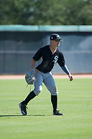 Chicago White Sox outfielder Steele Walker (5) during an Instructional League game against the Kansas City Royals at Camelback Ranch on September 25, 2018 in Glendale, Arizona. (Zachary Lucy/Four Seam Images)