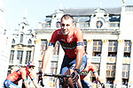 Vincenzo Nibali (ITA) Bahrain-Merida at the team presentation held on the Grand-Place before the 2019 Tour de France starting in Brussels, Belgium. 4th July 2019<br /> Picture: Colin Flockton | Cyclefile<br /> All photos usage must carry mandatory copyright credit (© Cyclefile | Colin Flockton)