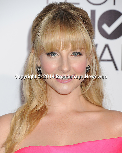 Pictured: Melissa Rauch<br /> Mandatory Credit &copy; Gilbert Flores /Broadimage<br /> 2014 People's Choice Awards <br /> <br /> 1/8/14, Los Angeles, California, United States of America<br /> Reference: 010814_GFLA_BDG_219<br /> <br /> Broadimage Newswire<br /> Los Angeles 1+  (310) 301-1027<br /> New York      1+  (646) 827-9134<br /> sales@broadimage.com<br /> http://www.broadimage.com